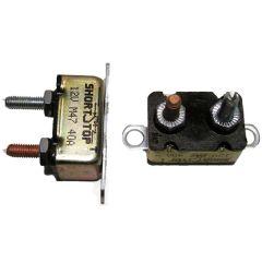 Circuit Breaker, 15 Amp, Manual Reset