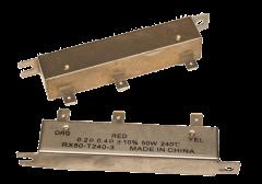 Resistor, .6 Ohm, Metal Case, 3 Tap, Thermal Protected