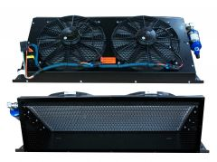 "Condenser, SC2LP, (2) 14"" Fans, Micro Channel, 12Vdc, Black Screen, Std Install"
